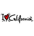 california love vector image vector image