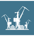 Cargo Cranes Isolated on Blue vector image vector image