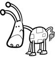 cartoon fantasy creature for coloring vector image vector image