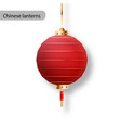 chinese lanterns japanese asian new year red vector image vector image