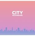 city skyscrapers horizontal seamless pattern vector image