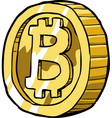coin bitcoin vector image