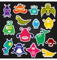 Color alien monster sticker vector image