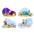 couple camping set vector image
