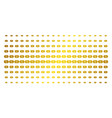 discount tag golden halftone array vector image