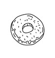 doughnut icon doodle hand drawn or black outline vector image vector image