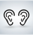 ear icon black pictogram isolated on a white vector image