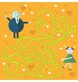 Education Maze or Labyrinth Game for Preschool vector image