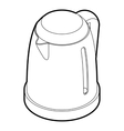 Electric kettle icon outline style vector image