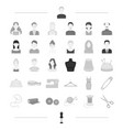 fashion designer style and other web icon in vector image