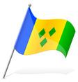 flag of Saint Vincent to Grenada vector image