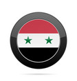 flag of syria shiny black round button vector image vector image