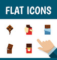 flat icon bitter set of shaped box wrapper vector image vector image