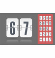 flip number and symbol scoreboard on transparent vector image vector image