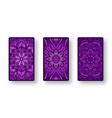 floral stylized purple pattern collection back vector image vector image