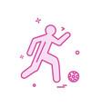 football icon design vector image vector image