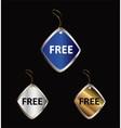 Free tag vector image vector image