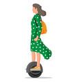 girl on monocycle wheel vector image