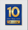 gold and blue anniversary banner collection 10 vector image vector image