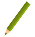 green pencil on white background vector image vector image