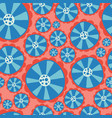 hippie flower power seamless pattern red vector image