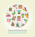 house cleaning card vector image vector image