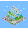 Isometric Hospital Medical Center Modern Building vector image
