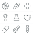 Line Icons Style Medical Icons Set Design vector image vector image