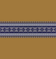 meander seamless border baroque repeat pattern vector image