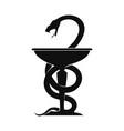 medical snake symbol vector image