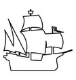 medieval ship icon black color flat style simple vector image