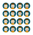 Men emotions faces vector image