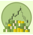 money on4 forex stock background vector image