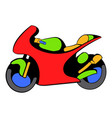 motorcycle icon icon cartoon vector image vector image