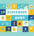 nature scavenger hunt summer camp and community vector image