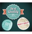 Old round retro vintage grunge stickers vector image vector image