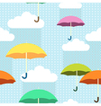 pattern rain color vector image vector image
