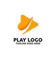 play button logo design inspiration vector image