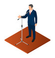 political orator icon isometric style vector image vector image