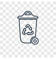 recycle bin concept linear icon isolated on vector image