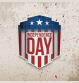 retro realistic greeting card for independence day vector image vector image