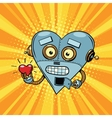 Retro robot heart Valentine love and romance vector image vector image