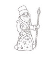 santa claus for coloring book vector image