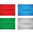 saturday to sunday turning text vector image vector image