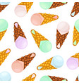 seamless pattern of ice creamcartoon style vector image