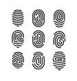 set fingerprint icons on vector image vector image