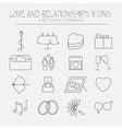 Set of love icons vector image