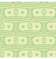 Set of Paper Dollars Seamless Pattern US Currency vector image