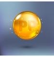 Shining golden essence circle droplet vector image vector image