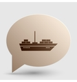 Ship sign Brown gradient icon on vector image vector image